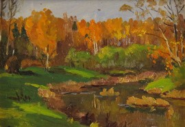 Autumn Stream, Orange Trees