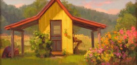 Yellow Garden Shed