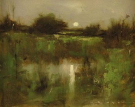 Moon Over the Marsh VII